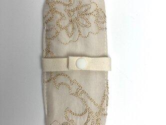 布ナプキン/おりもの用ライナー/ゴールド刺繍の画像