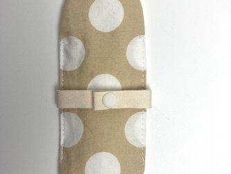 布ナプキン/おりもの用ライナー/ベージュ×オフ白ドットの画像