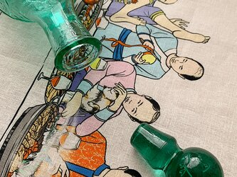 ティータオルにもなる  『ゆるふわ男子』最後の晩餐風絵柄マルチクロスの画像