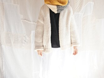 wool mix patchwork snood(04)の画像