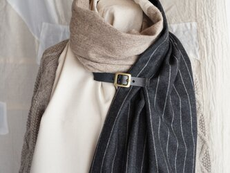 ●1点もの●three cloth leathrbelt stole(2020aw-d)の画像