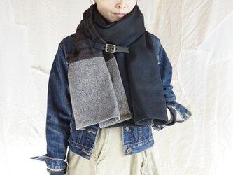 ●1点もの●three cloth leathrbelt stole(2020aw-b)の画像