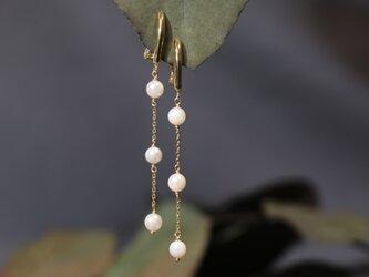 あこや真珠ロングイヤリングの画像