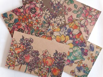 ポストカード 花柄(6枚セット)001の画像