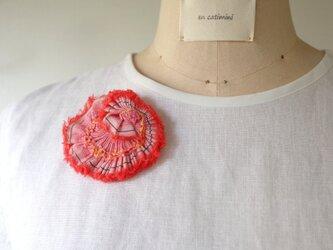 ♡半額sale♡赤い花ブローチ pli ovaf rbnpの画像