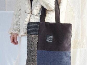 ●1点もの●patchwork wool mix bag(m)の画像