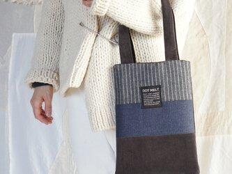 ●1点もの●patchwork wool mix bag(s)の画像