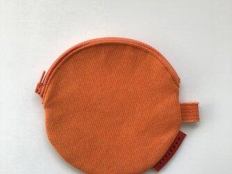 まるポーチ/オレンジの画像