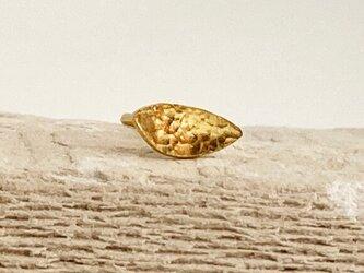 K24 Pure Gold Leaf ◇小さな純金の葉っぱピアス◇スタッドピアス◇片耳分~◇1コ限定の画像