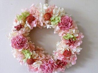 22cm 春待ちリース桜色の画像