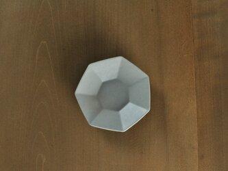 七角小皿/白の画像