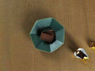 七角小皿/緑の画像