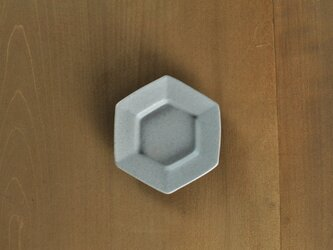 豆皿・六角/白の画像