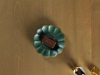 豆皿・菊/緑の画像