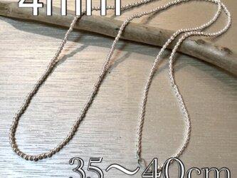 4mm ナバホパール デザインネックレス 35〜40cmの画像