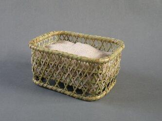 根曲がり竹 千島笹 椀籠 角型小 整理 インテリアの画像