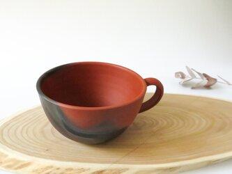 :無名異焼のスープカップ:窯変の画像