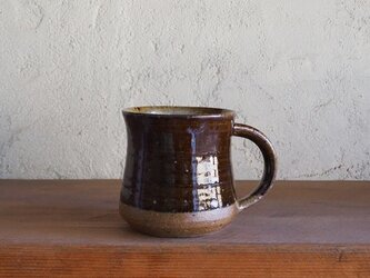 mug cup(弓形)L・brownの画像