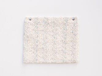 《春新色》 Kanau リムーバブルポーチ LINTONツイード 【ホワイト】 単品 の画像