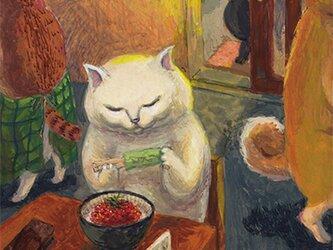 カマノレイコ オリジナル猫ポストカード「いくら」2枚セットの画像