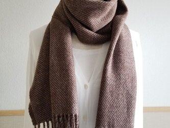 手織りのストール(シャークスキン・ブラウン)の画像