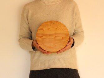 木のお皿(中くらいの丸耳つき)5の画像