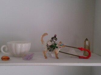 幸猫 レジンピンブローチ (シャム・赤)の画像