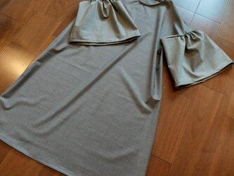 袖が選べるワンピースの画像
