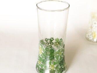 たっぷり入るゴブレット&花瓶(お花ふわりと刺繍)Gの画像
