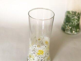 たっぷり入るゴブレット&花瓶(お花ふわりと刺繍)Wの画像