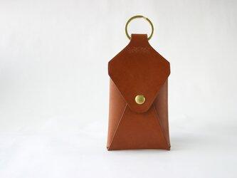 カードの入るキーホルダー チョコの画像