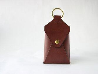 カードの入るキーホルダー バーガンディの画像