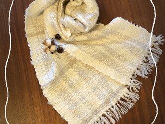 手織り(裂き織り)のストールの画像