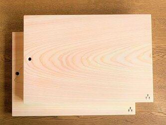 シンプル・無垢材のヒノキの木のまな板・カッティングボードの画像