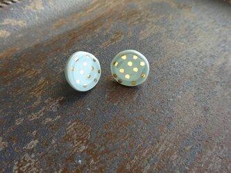 金彩dot round pierce/earring(空色)の画像