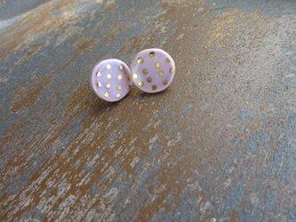 金彩dot round pierce/earring(白菫色)の画像