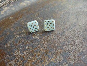 金彩dot square pierce/earring(空色)の画像