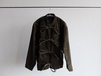 【シーズン限定】木間服装製作 / バンドカラージャケットコーデュロイ khaki / unisexの画像