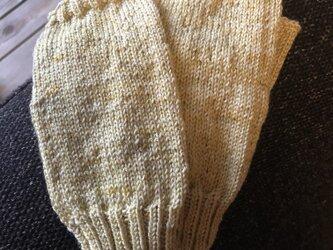 手編みミトンの画像