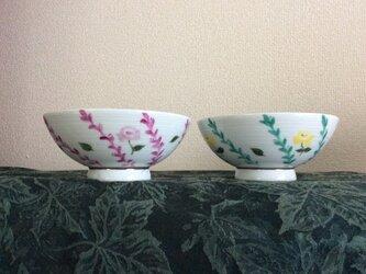 小薔薇の夫婦茶碗の画像