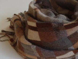 手織りカシミアストール・・brownsの画像