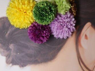マムとベリーのヘッドドレス 髪飾り 和装ヘアの画像