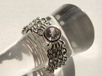 『 Weave ( heart&tender ) 』Ring by SV925の画像