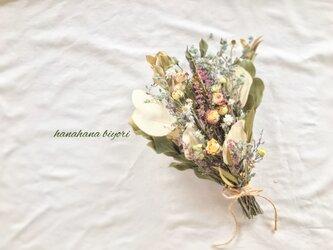 ミニ薔薇と小花のブーケ・スワッグの画像