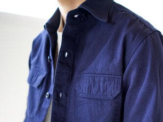 size2/cotton ox work shirt/navyの画像