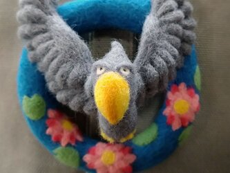 【羊毛フェルト】はしびろさんアクティブブローチの画像