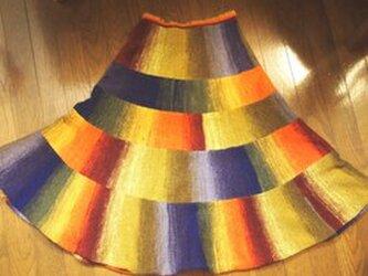 【受注製作】お色を選んで(^^♪野呂スカート★フレアースカート クレヨン ソックヤーン 185番の画像