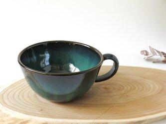 :無名異焼のスープカップ:グリーンの画像