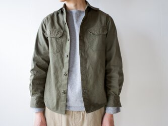 size1/cotton ox work shirt/khakiの画像