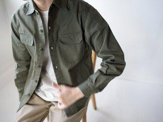 size2/cotton ox work shirt/khakiの画像